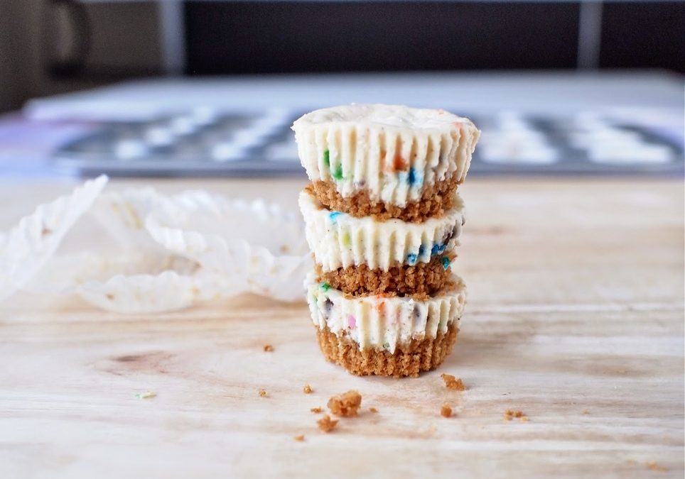 Funfetti Greek Yogurt Cheesecake Bites