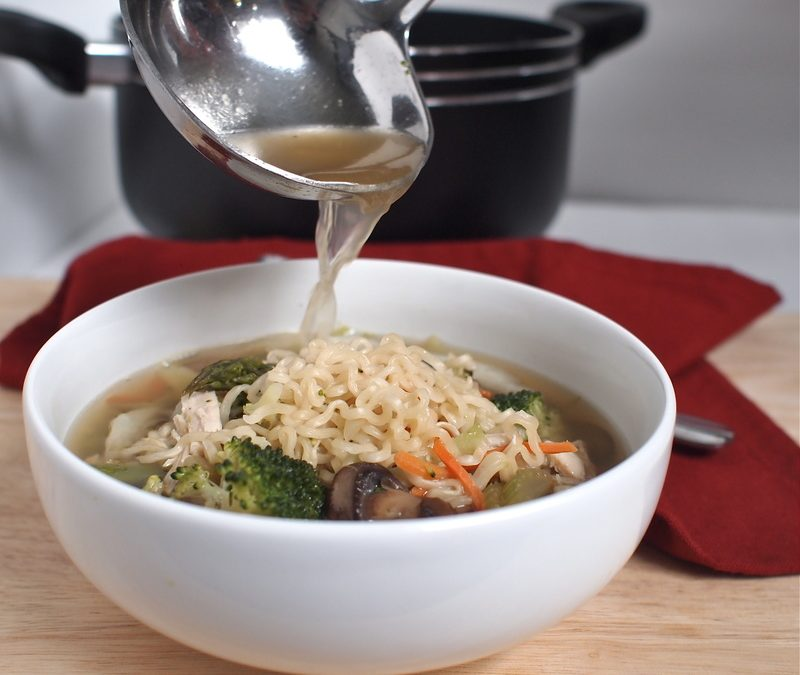 Chicken Vegetable and Ramen Soup
