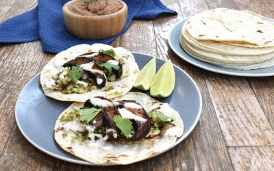 Roasted Mushroom and Brussels Sprout Tacos