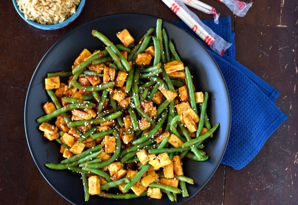 Spicy Peanut Tofu & Green Beans